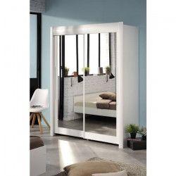 GALA Rangement coulissant contemporain décor blanc - L 157 cm