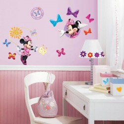 MINNIE Stickers Muraux Enfant (4 Planches Repositionnables)
