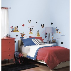 MICKEY Stickers Muraux Enfant 4 Planches Repositionnables Room Studio