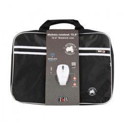 T`NB Mallette PC + souris optique sans fil Authentic - 15,6`` - Noir et Blanc