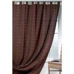 DAKAR Rideau Coton & Lin Chocolat 140x260cm