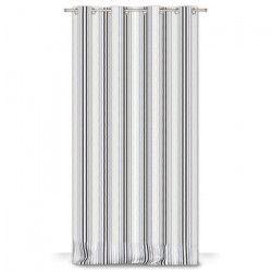 Rideau CARINA 8 oeillets - Gris - 140 x 245 cm