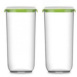 FOSA Récipients de mise sous vide alimentaire Pack1280-12850 2850 ml blanc et vert