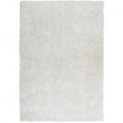 STYLE Tapis de salon Shaggy 80x150 cm blanc
