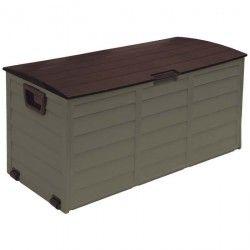 Coffre de jardin en PVC 227L - Moka