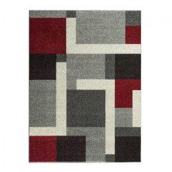 COSI Tapis de salon moderne géométrique 160x230 cm gris