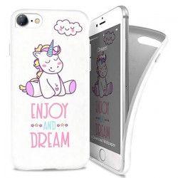 I-PAINT Coque pour iPhone 7 - Licorne