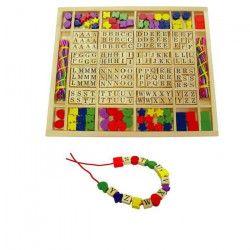 SAPIN MALIN Coffret perles lettres et formes - A partir de 5 ans