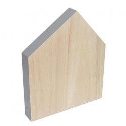 ECO DESIGN A1240 Planche a découper House - Brut / Gris - 22x19 cm