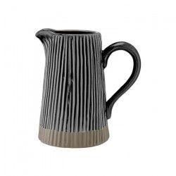 LADELLE Grand pichet - Noir - Gres - 18,5 x 14 x 22 cm