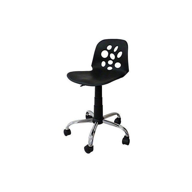 lyly chaise de bureau sur roulettes noir mat. Black Bedroom Furniture Sets. Home Design Ideas