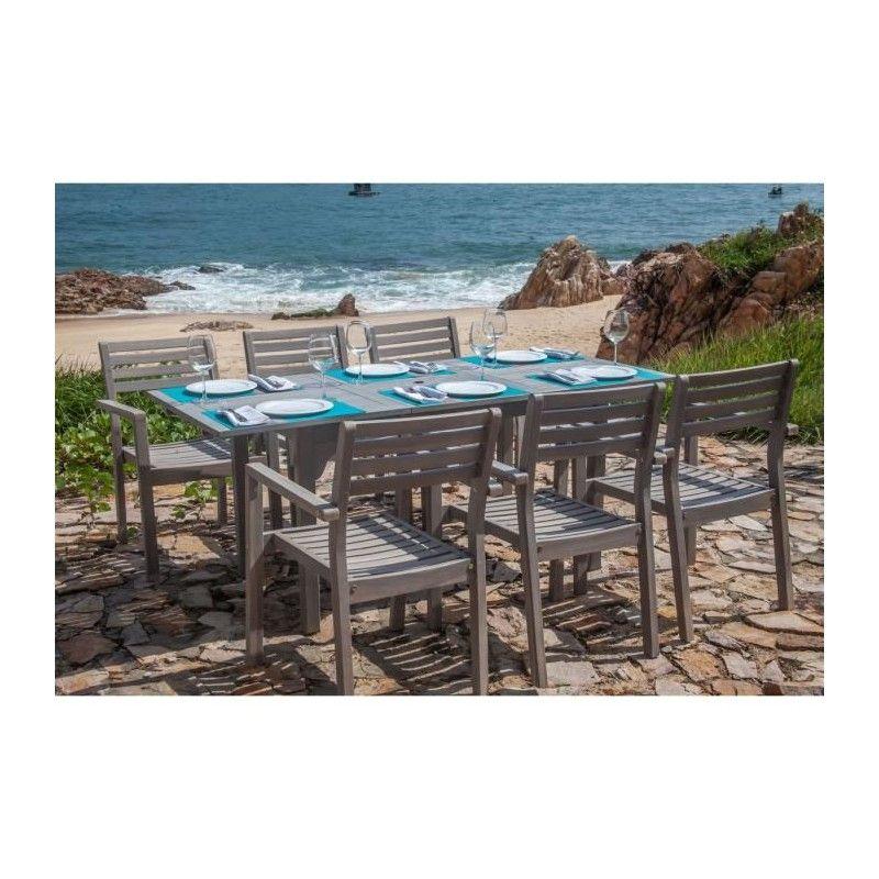finlandek ensemble table de jardin rectangulaire 6. Black Bedroom Furniture Sets. Home Design Ideas