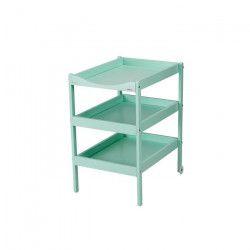 COMBELLE Table a langer Susie 3 Plateaux laque vert mint