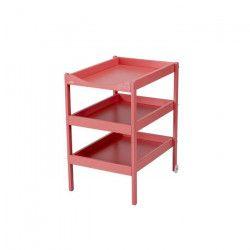 COMBELLE Table a langer Susie 3 Plateaux laque rose