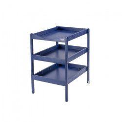 COMBELLE Table a langer Susie 3 Plateaux laque bleu