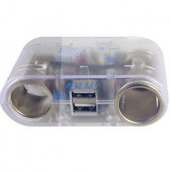 Multiprise Allume Cigare 12V/24V USB