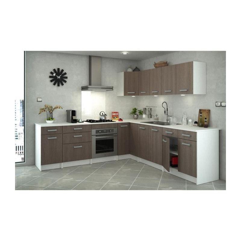 start meuble de cuisine bas d`angle avec plan de