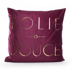 MARLENE BACKER Coussin Folie douce 45x45 cm Bordeaux