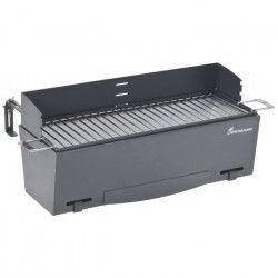 LANDMANN Barbecue a charbon de balcon - Acier chromée - 48x18cm