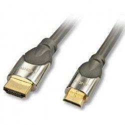 LINDY Câble HDMI vers Mini-HDMI - Compatible HDMI 2.0 Ultra HD - Avec Ethernet CROMO - Type A / C - 1m