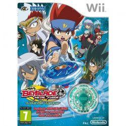 Konami Beyblade Metal Fusion + Toupie - Jeu Wii
