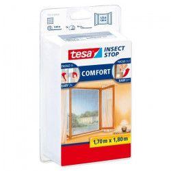 TESA Moustiquaire Comfort pour fenetres - 1,7 m x 1,8 m - Blanc