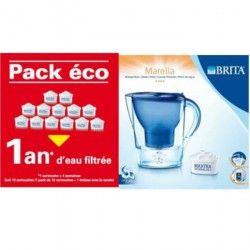 BRITA PACK ECO 1 an d'eau filtrée + Marella Bleue