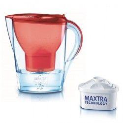 Carafe filtrante Marella Rouge 1 cartouche incluse