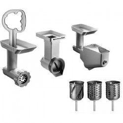 KITCHENAID Accessoires 5KSMFPPC Kit 3 accessoires (5FGA+5KSMVSA+5FVSP) pour robots pâtissier KITCHENAID