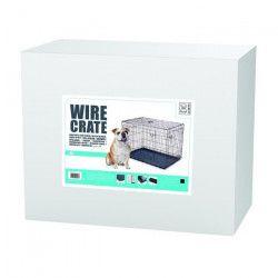 MPETS Caisse métallique Wire Crate M - Noir metal - Pour chien