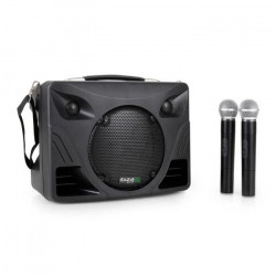 IBIZA SOUND PORT85VHF-BT Systeme de sonorisation portable rechargeable avec lecteur USB/MP3/sd, 2 micros vhf &