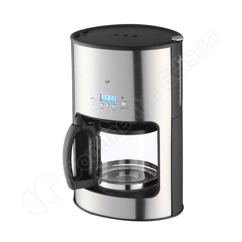 Cafetiere filtre programmable inox continental e - Cafetiere filtre programmable isotherme ...