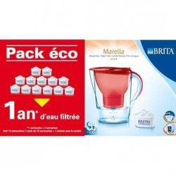 BRITA PACK ECO 1 an d'eau filtrée + Marella Rouge