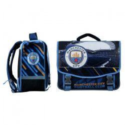 MANCHESTER CITY Cartable - 2 Compartiments - 6 a 9 ans - Classe primaire et élémentaire - 41cm - Bleu - Enfant