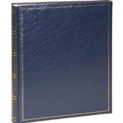 PANODIA Album photos traditionnel Vinyl 30x35 100 pages bleu