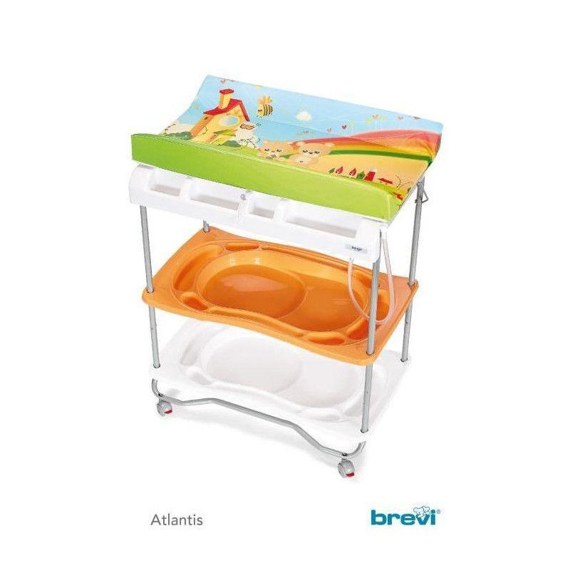 Brevi table a langer baignoire atlantis arc en ciel - Table a langer brevi atlantis ...