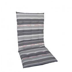 JARDIN PRIVE Coussin futon fauteuil haut dossier COUTIL - 85x42x5cm