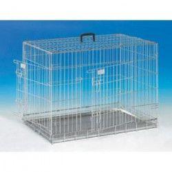 NOBBY Cage métallique zinc - 93x62x69cm - Pour chien