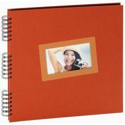 PANODIA Album photo traditionnel Tais - 60 pages - 30 x 30 cm - Orange