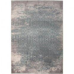 THEMA Tapis de salon 100% polyester 120x170 - Bleu