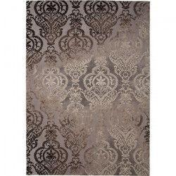 THEMA Tapis de salon 100% polyester 80x150 - Marron