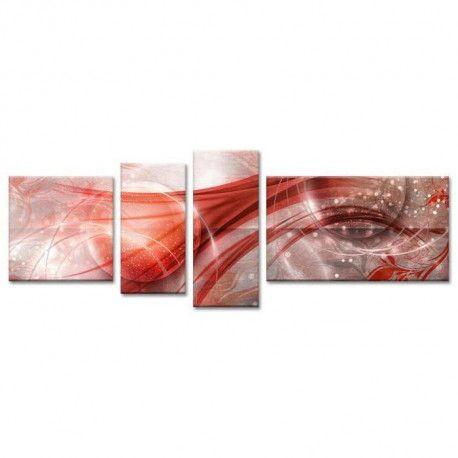 cosmos tableau multi panneaux 160x60 cm rouge abstrait. Black Bedroom Furniture Sets. Home Design Ideas