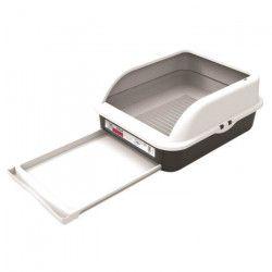 M-PETS Bac a litiere Tala - 55,2x45,4x24cm - Noir et blanc - Pour chat