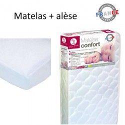 LILOU MIAKA Matelas Confort 60x120 cm + alese