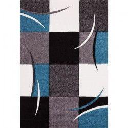 DIAMOND Tapis de couloir 80x300 cm turquoise, gris, noir