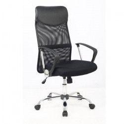 KARL Fauteuil de bureau en simili ergonomique - Noir