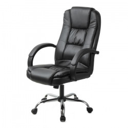 ELITE Fauteuil de bureau inclinable - Simili PU - Noir - Contemporain - L 64 x P 80 cm