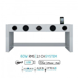 SOUNDVISION SoundStand80W Meuble TV HiFi Blanc blu