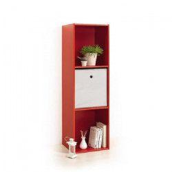 MODUL`HOME Module 3 cubes de rangement - 36,5 x 29,5 x H 116,5cm - Rouge