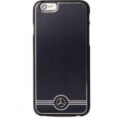 MERCEDES Coque Titanium - Pour iPhone 6 / 6S - Noire effet acier brossé